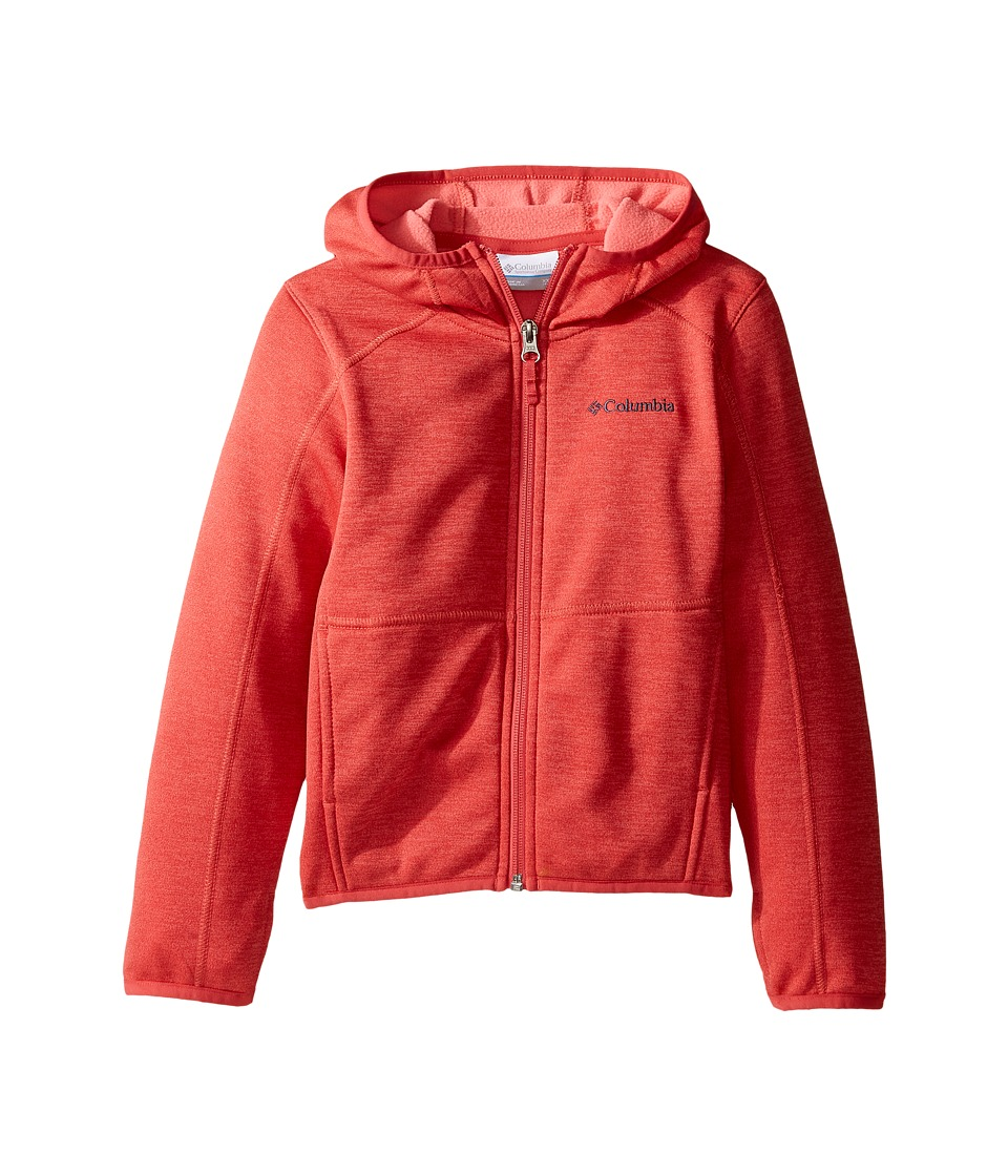 Columbia Kids - S'more Adventure Full Zip Hoodie (Little Kids/Big Kids) (Sunset Red Heather) Boy's Sweatshirt