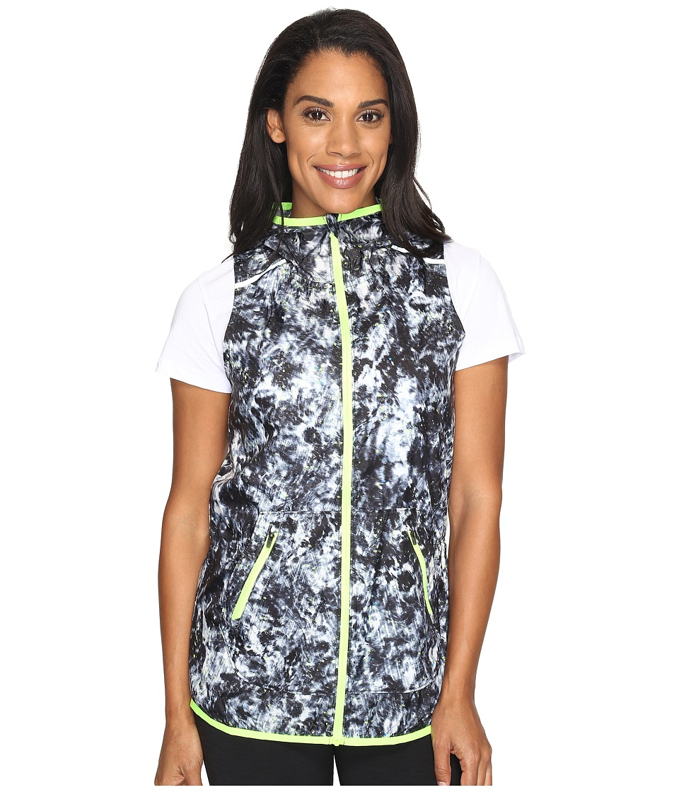 New Balance - Windcheater Vest Printed (White Tie-Dye Floral) Women's Vest
