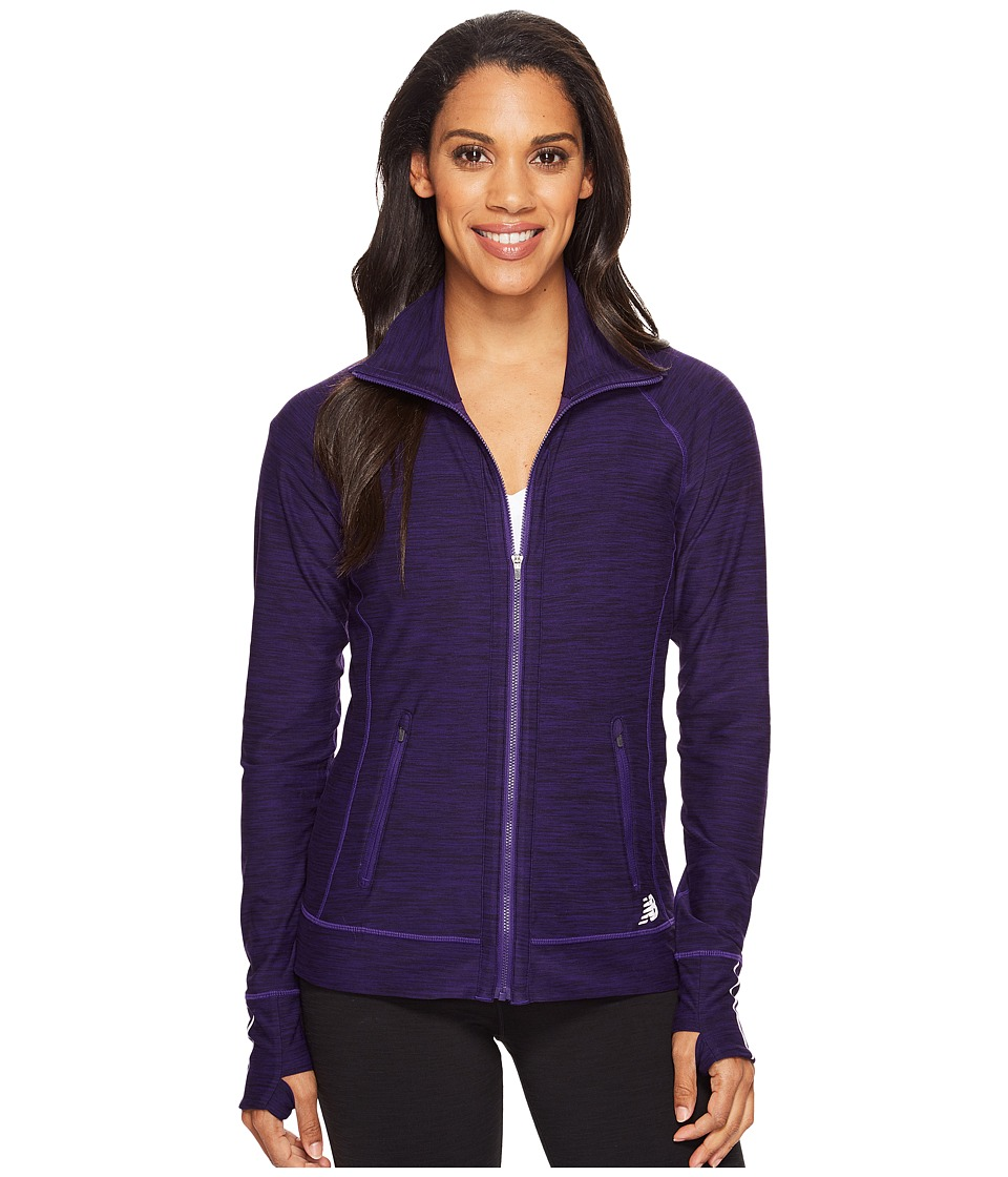 New Balance - In Transit Jacket (Black Plum Heather) Women's Coat