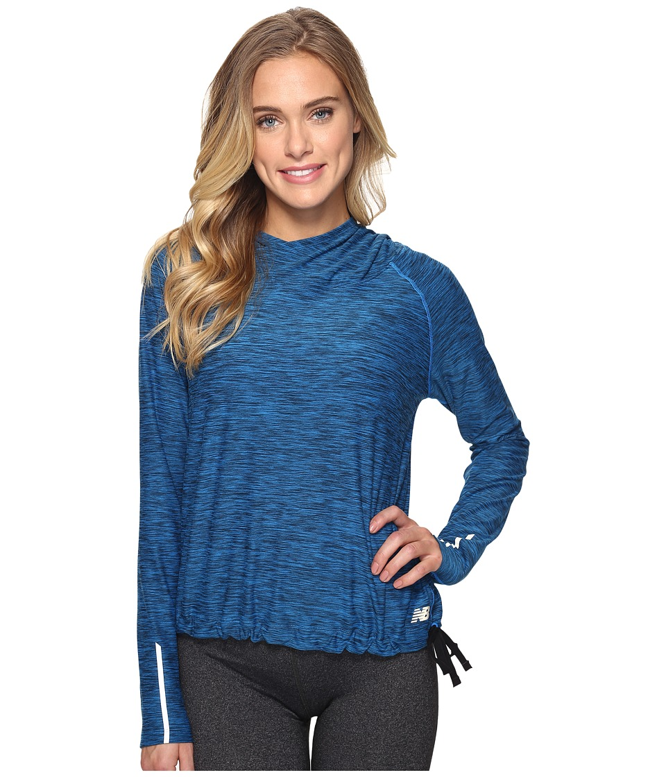 New Balance - In Transit Pullover (Electric Blue Heather) Women's Sweatshirt