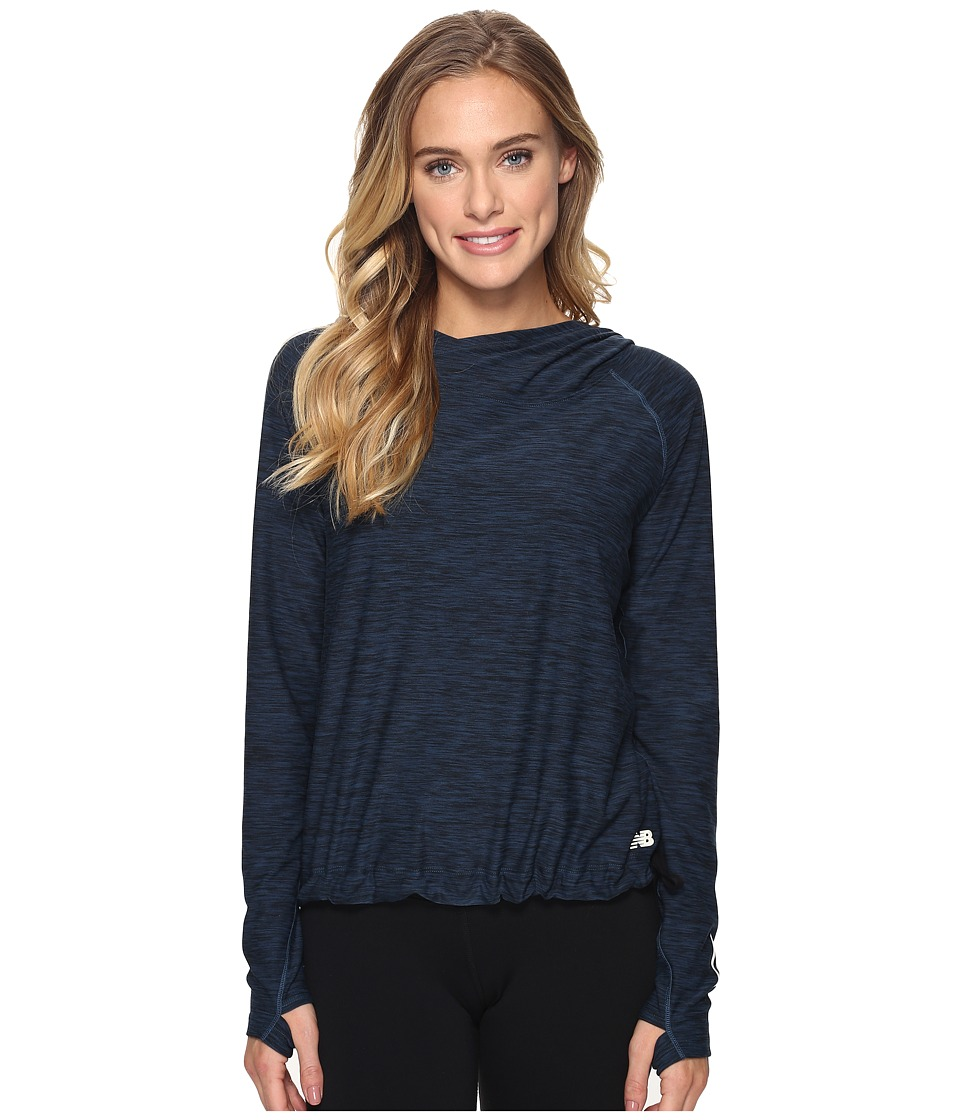 New Balance - In Transit Pullover (Tornado Heather) Women's Sweatshirt
