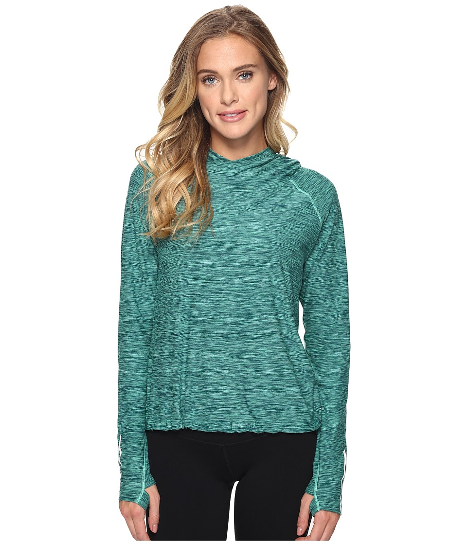 New Balance - In Transit Pullover (Vivid Jade Heather) Women's Sweatshirt