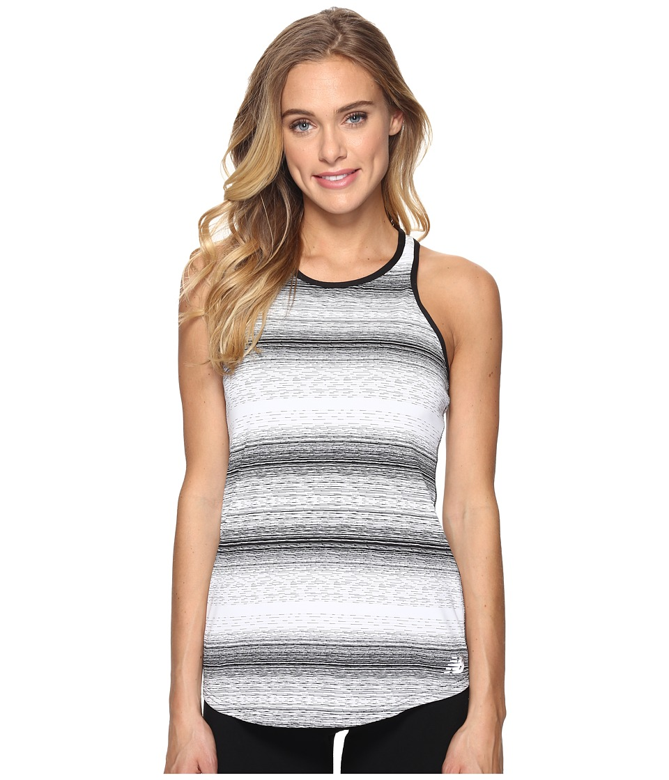 New Balance - Layer Tank Top (Black/White) Women's Sleeveless