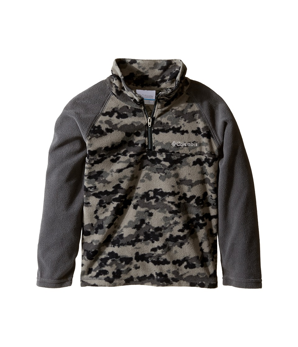 Columbia Kids - Glacial II Print 1/2 Zip (Little Kids/Big Kids) (Shark Camper Camo) Boy's Sweatshirt
