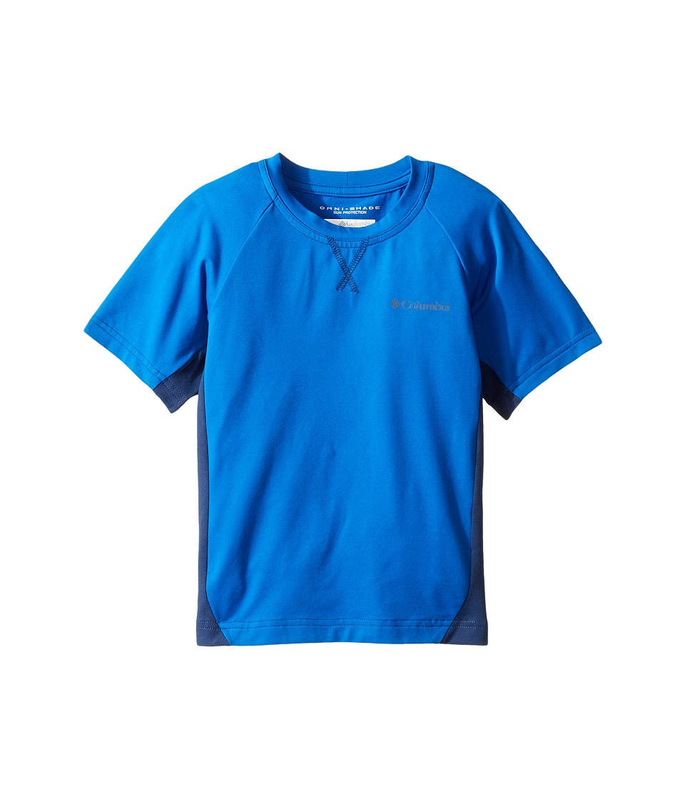 Columbia Kids - Silver Ridgetm Short Sleeve Tee (Little Kids/Big Kids) (Super Blue/Carbon) Boy's Short Sleeve Pullover