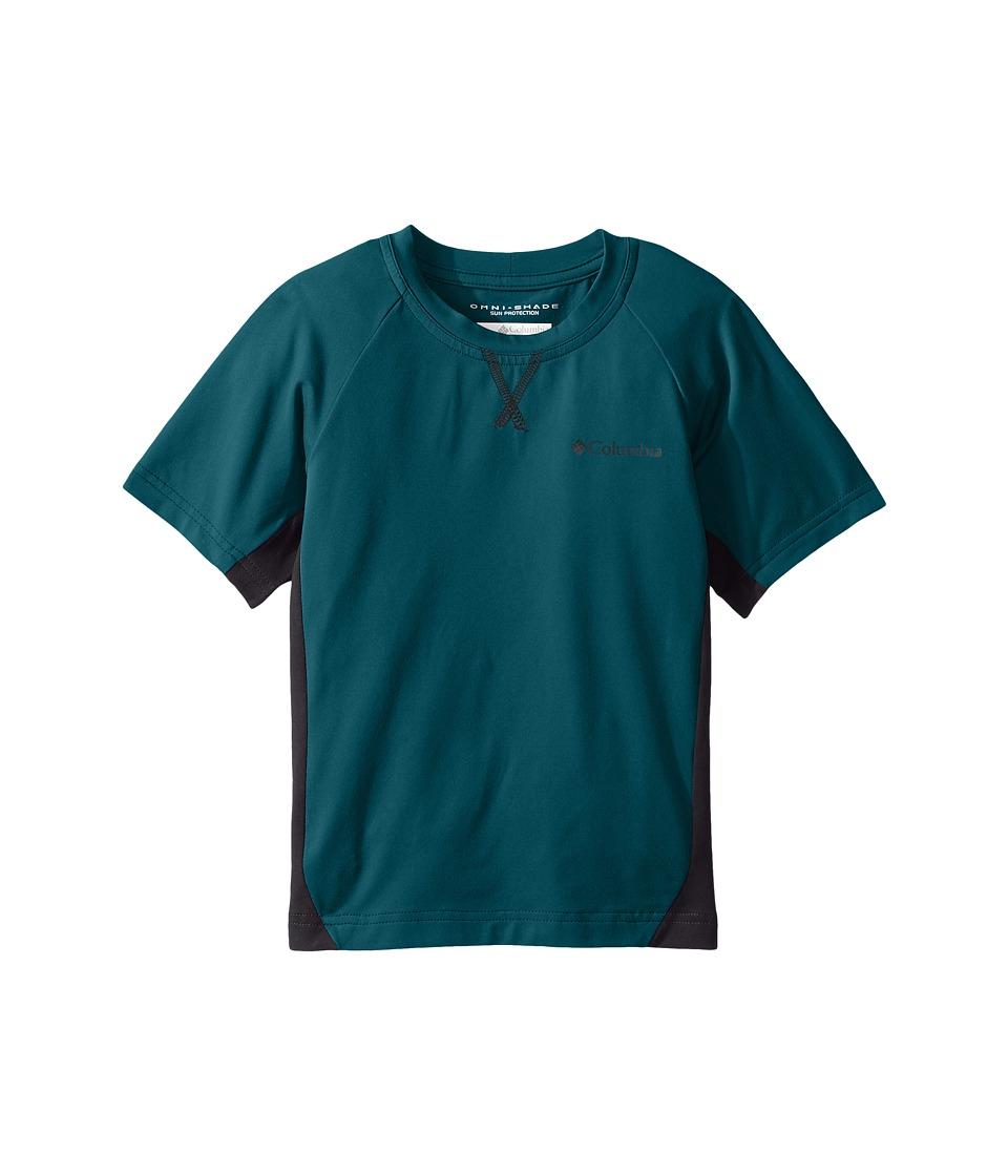 Columbia Kids - Silver Ridgetm Short Sleeve Tee (Little Kids/Big Kids) (Waterfall/Shark) Boy's Short Sleeve Pullover