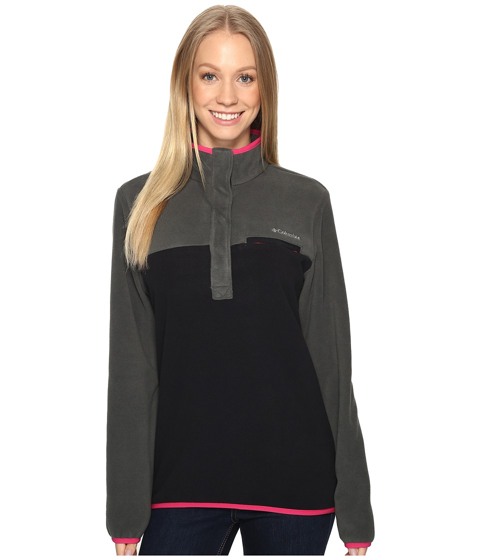 Columbia - Mountain Side Pullover (Grill/Black) Women's Long Sleeve Pullover
