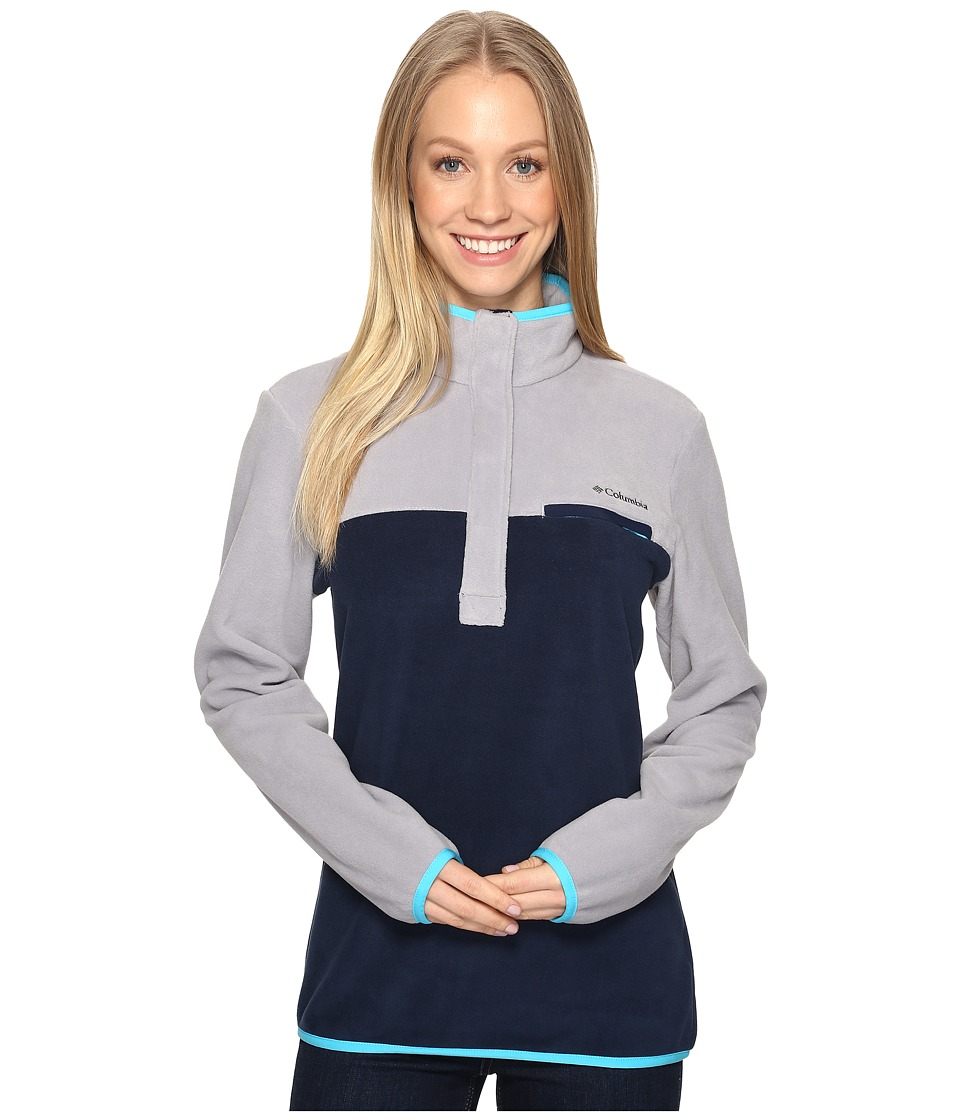 Columbia - Mountain Side Pullover (Columbia Grey/Collegiate Navy) Women's Long Sleeve Pullover
