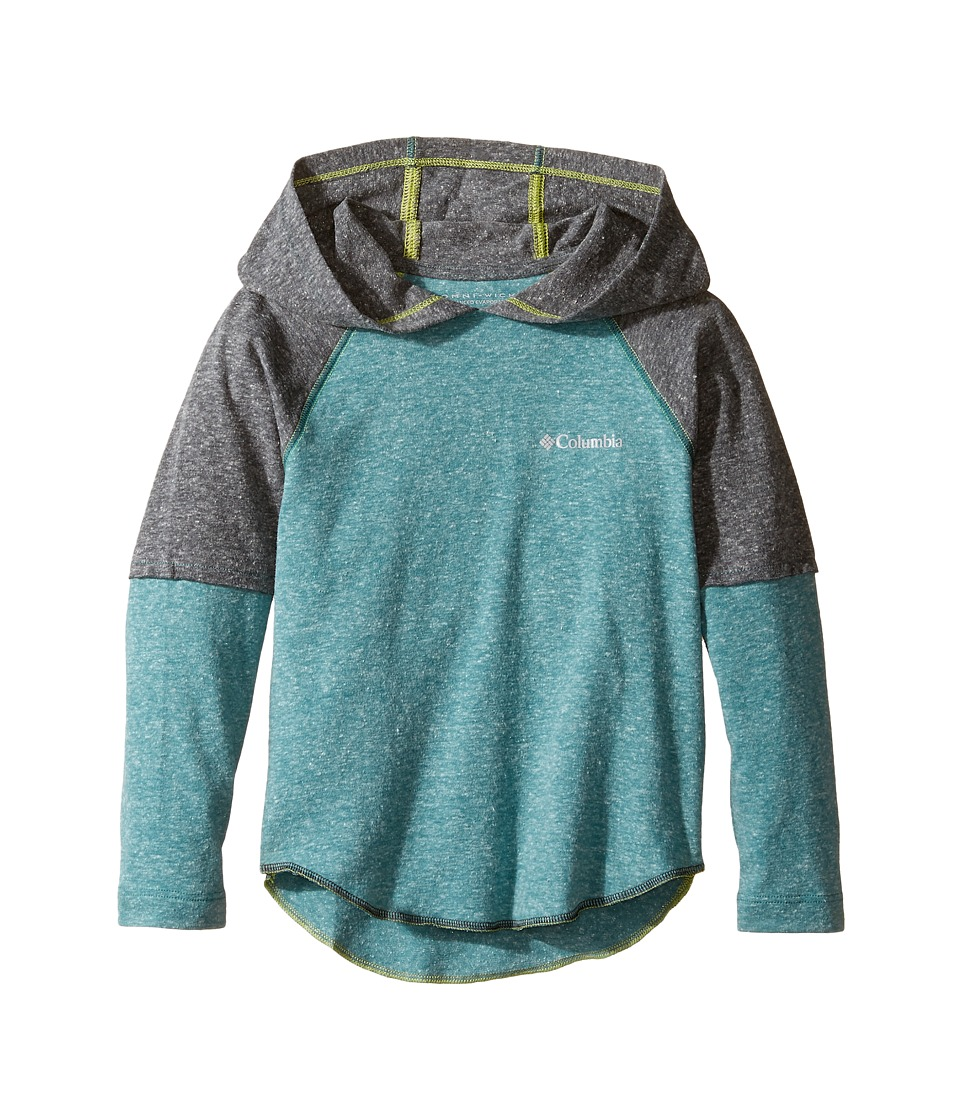 Columbia Kids - Silver Ridge Novelty Hoodie (Little Kids/Big Kids) (Waterfall Heather/Shark Heather) Boy's Sweatshirt
