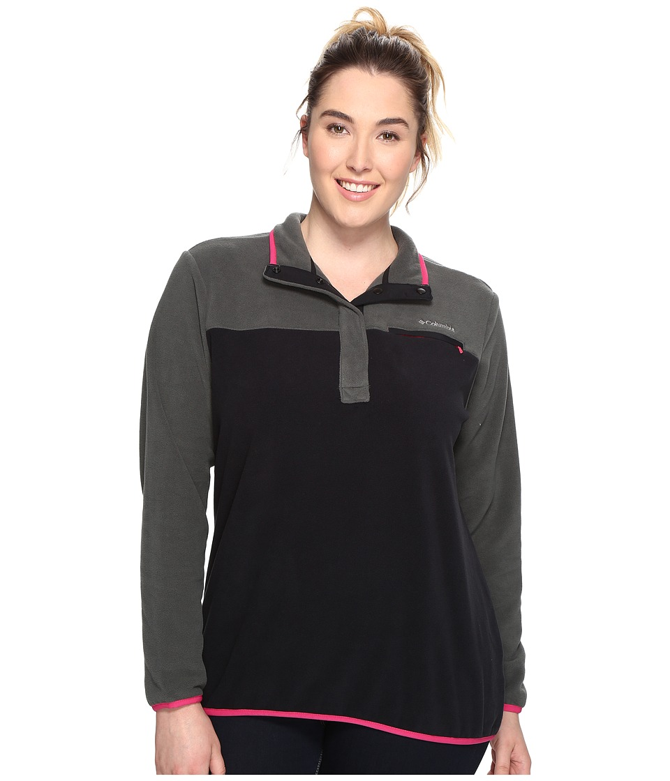 Columbia - Plus Size Mountain Side Pullover (Grill/Black) Women's Long Sleeve Pullover