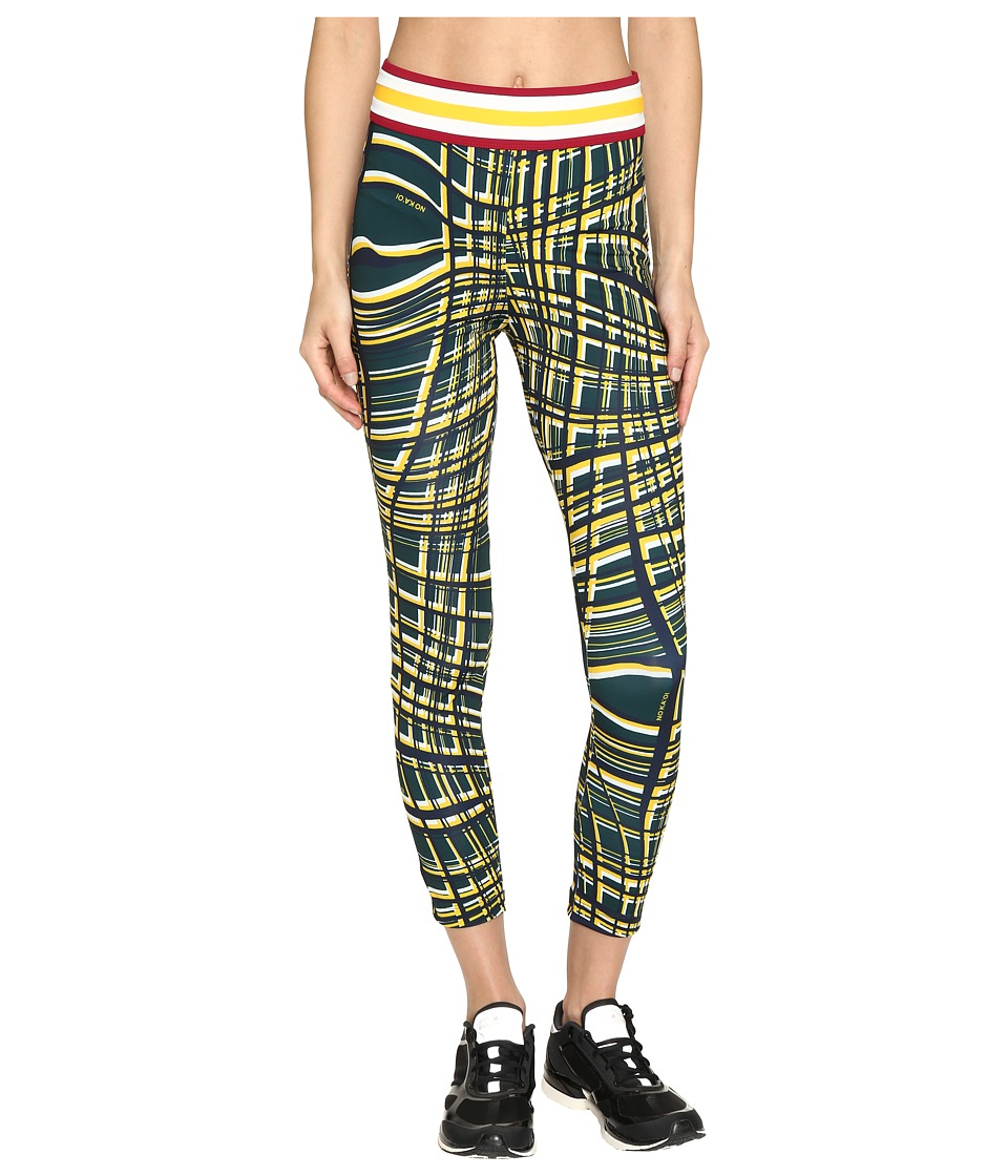 NO KA'OI - Kela 7/8 Leggings (Saffron Print) Women's Casual Pants