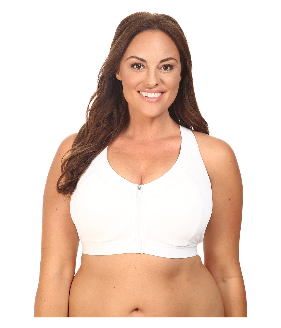 Marika Curves - Plus Size Sierra Sports Bra (White) Women's Bra