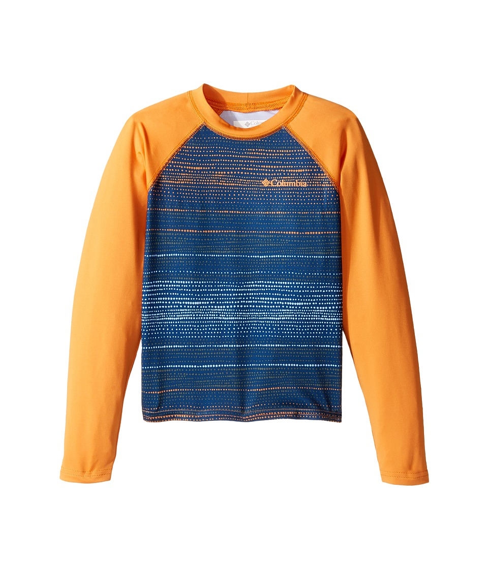 Columbia Kids - Mini Breaker Printed Long Sleeve Sunguard (Little Kids/Big Kids) (Koi Dotty Dye/Koi) Boy's Swimwear