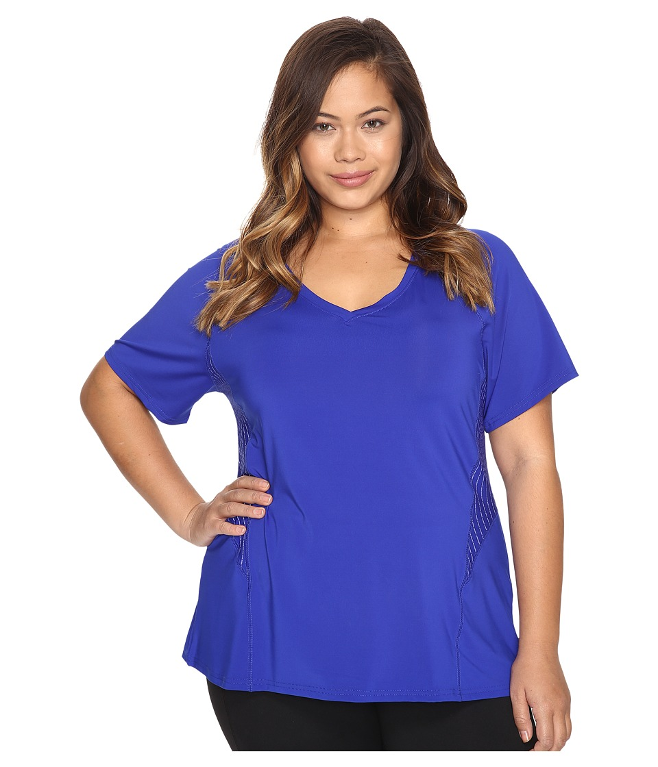 Marika Curves - Plus Size Spark Tee (Cobalt Ink) Women's T Shirt
