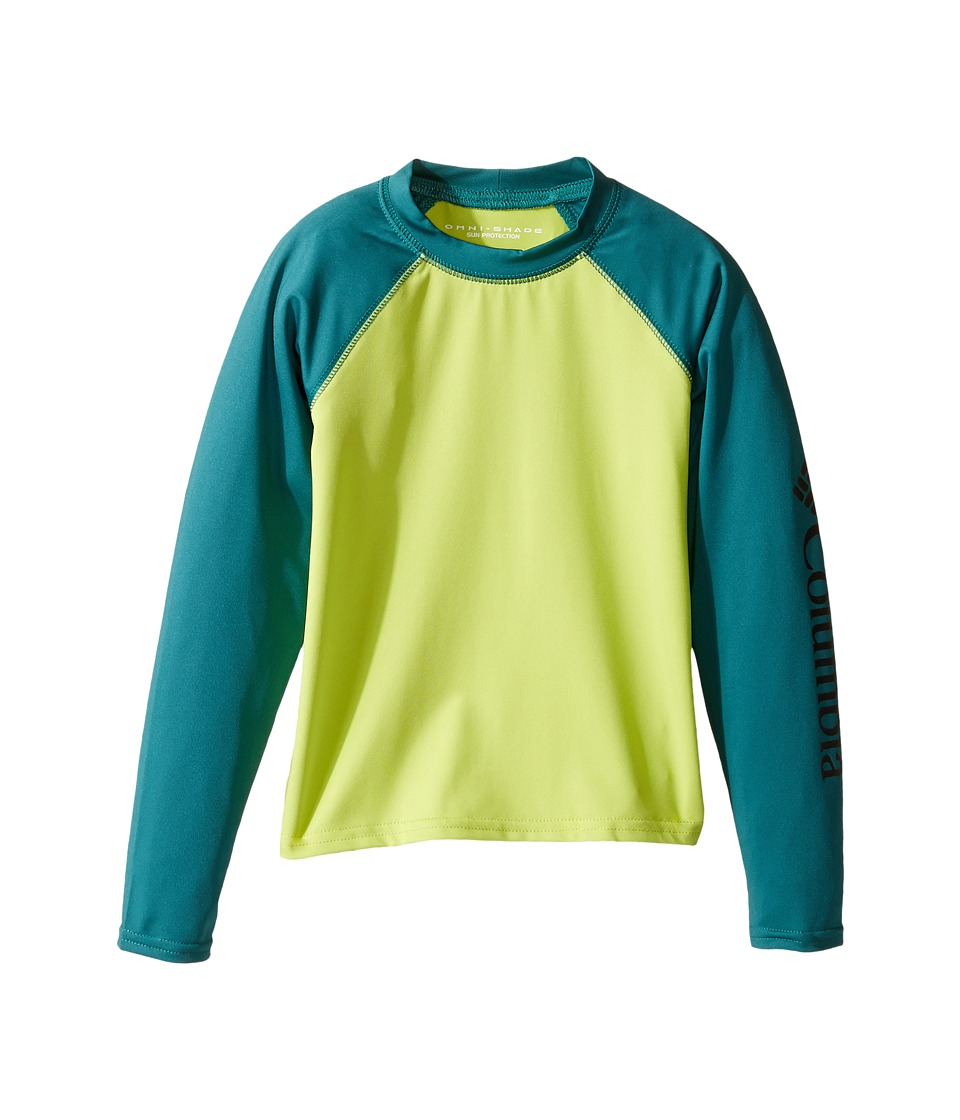 Columbia Kids - Mini Breakertm Long Sleeve Rashguard (Little Kids/Big Kids) (Voltage/Waterfall) Boy's Swimwear