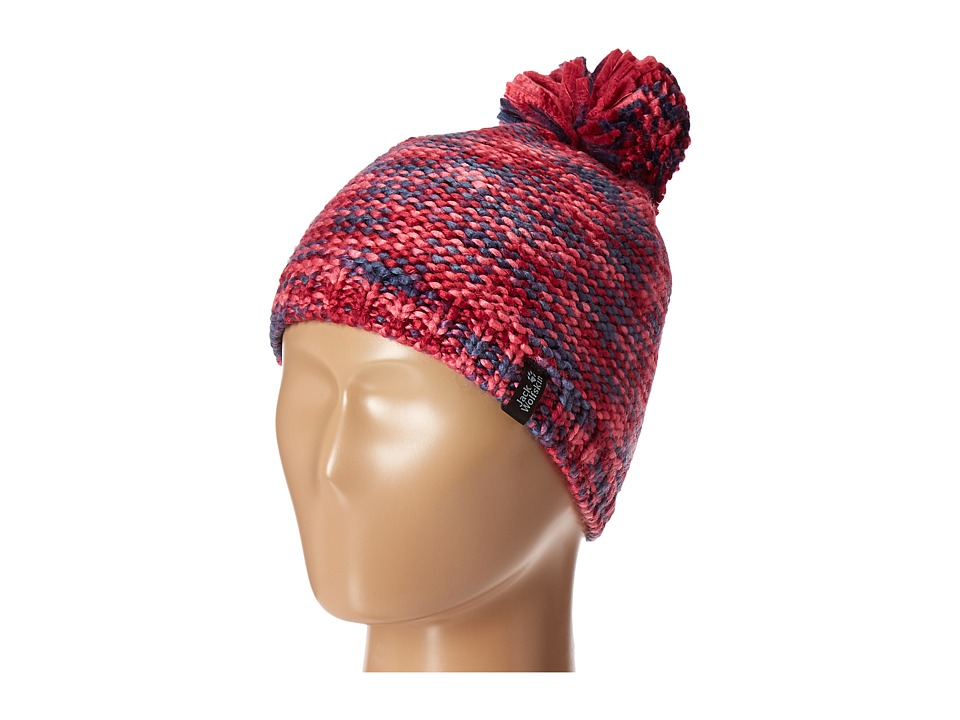 Jack Wolfskin - Kaleidoscope Knit Cap (Little Kid/Big Kid) (Azalea Red) Knit Hats