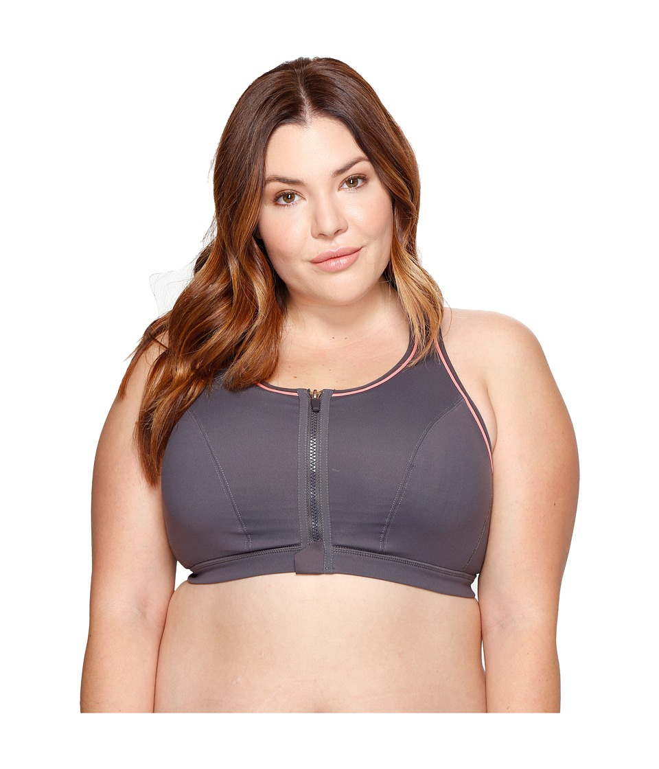 Marika Curves - Plus Size Adriana Sports Bra (Shell Pink) Women's Bra