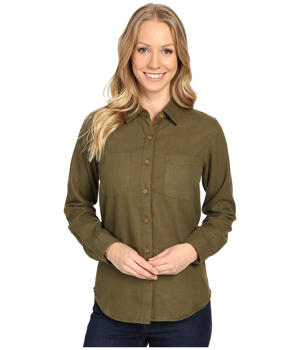 United By Blue - Aspenn Wool Shirt (Olive) Women's Clothing