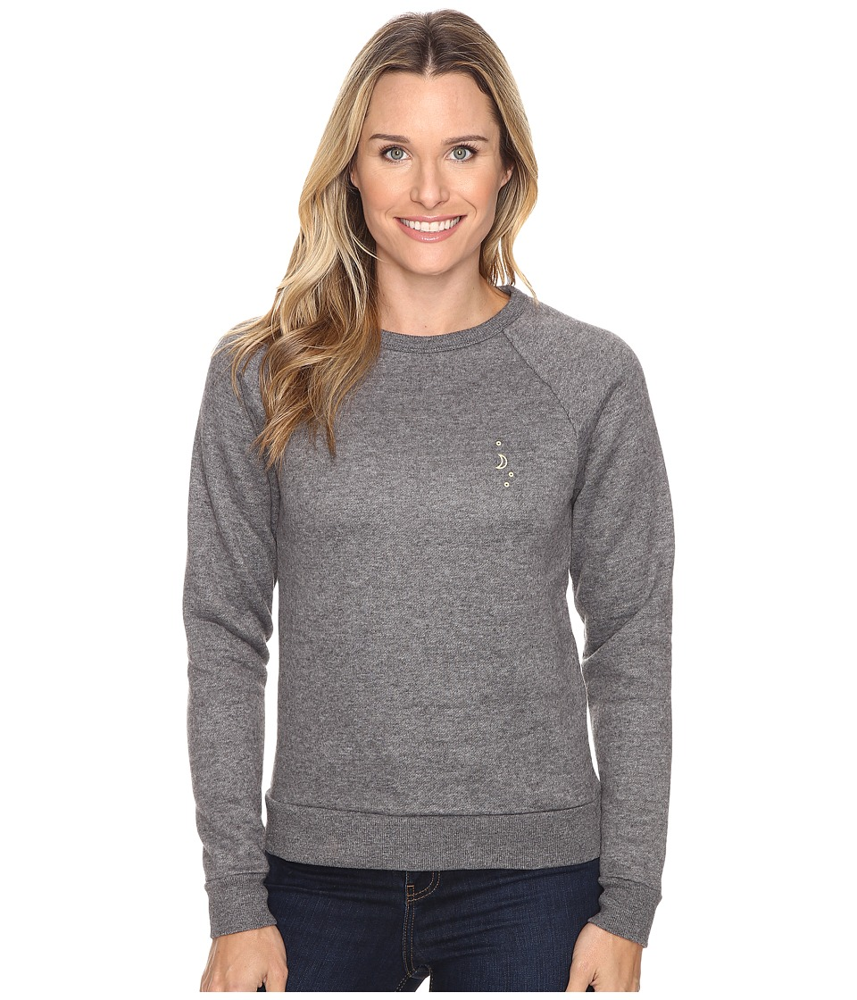 United By Blue - Sun Mountain Crew Pullover (Charcoal) Women's Clothing