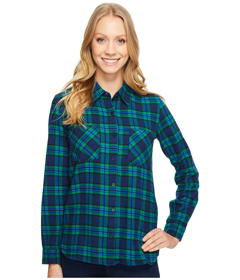 United By Blue - Eldora Plaid (Green/Navy) Women's Clothing