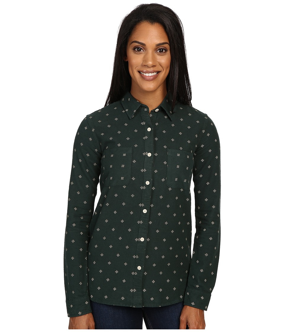 United By Blue - Rae Geo Button Down (Olive) Women's Clothing
