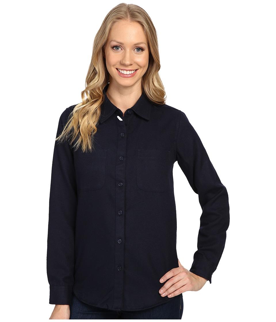 United By Blue - Aspenn Wool Shirt (Navy) Women's Clothing