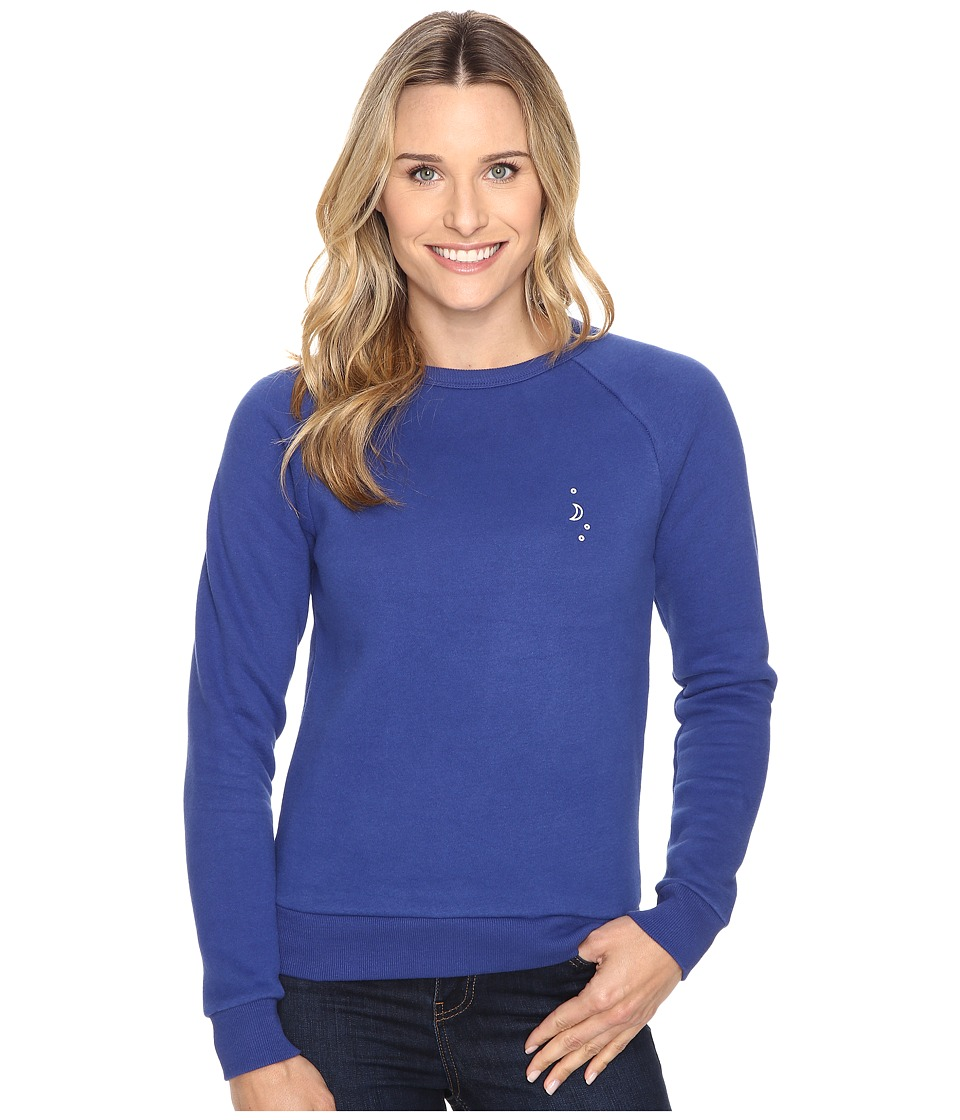 United By Blue - Sun Mountain Crew Pullover (Blueprint) Women's Clothing