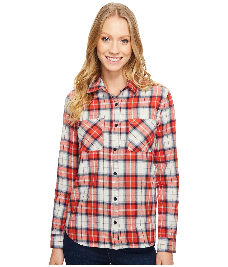 United By Blue - Knowle Plaid (Orange/Grey) Women's Clothing