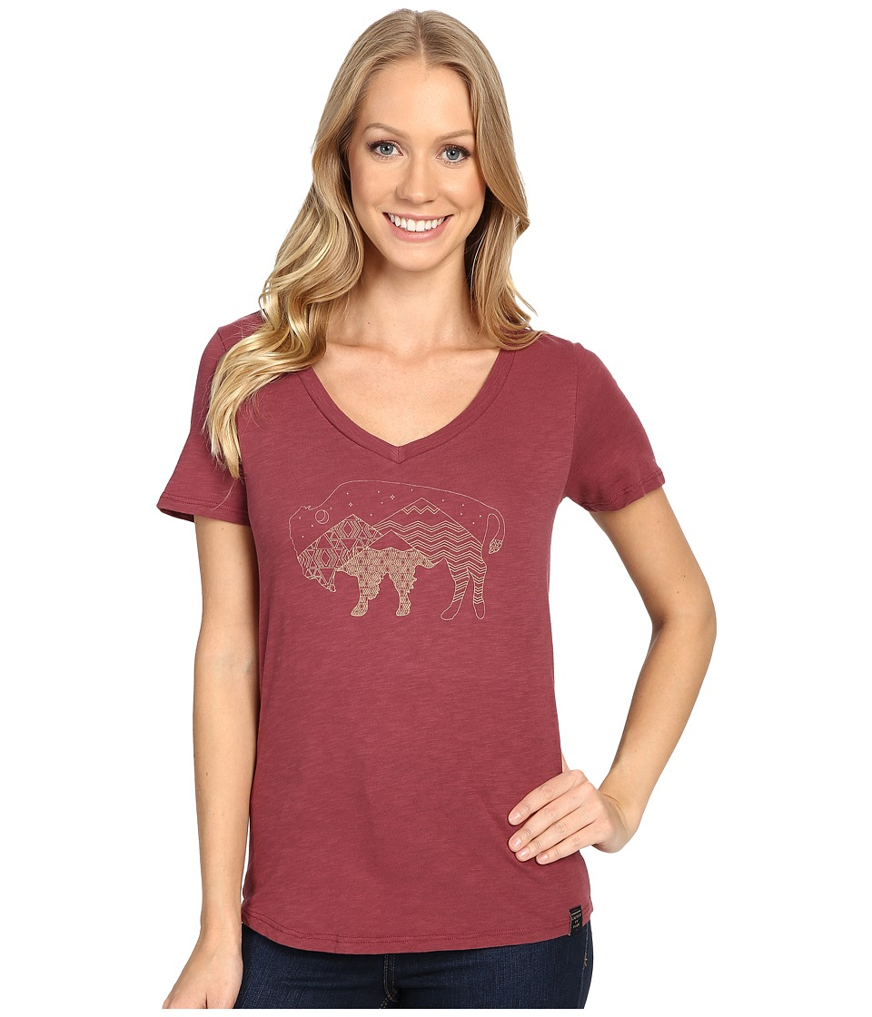 United By Blue - Starry Bison (Oxblood) Women's Clothing