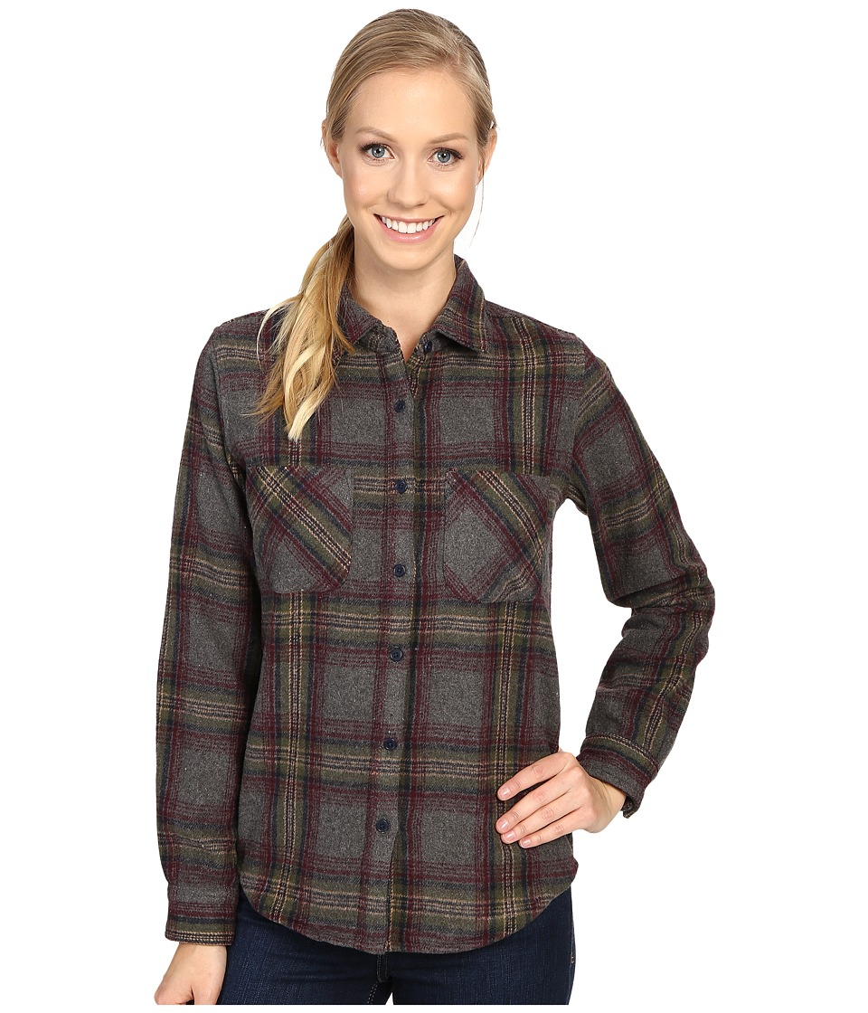 United By Blue - Cayley Wool Plaid (Grey/Olive) Women's Clothing