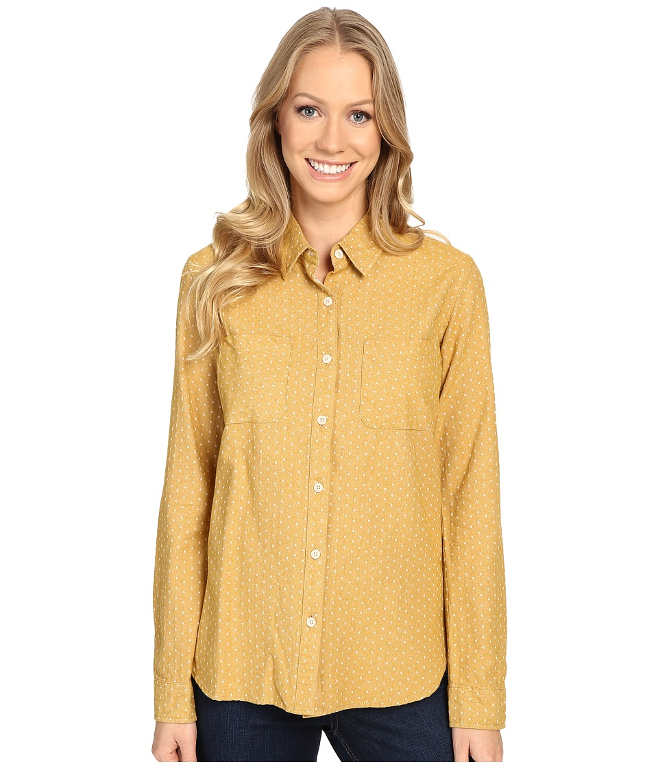 United By Blue - Galway Dot Button Down (Gold) Women's Clothing