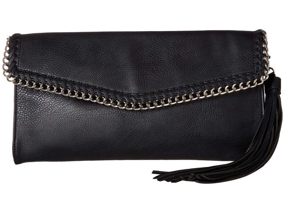 CARLOS by Carlos Santana - Ida Envelope Clutch (Black) Clutch Handbags