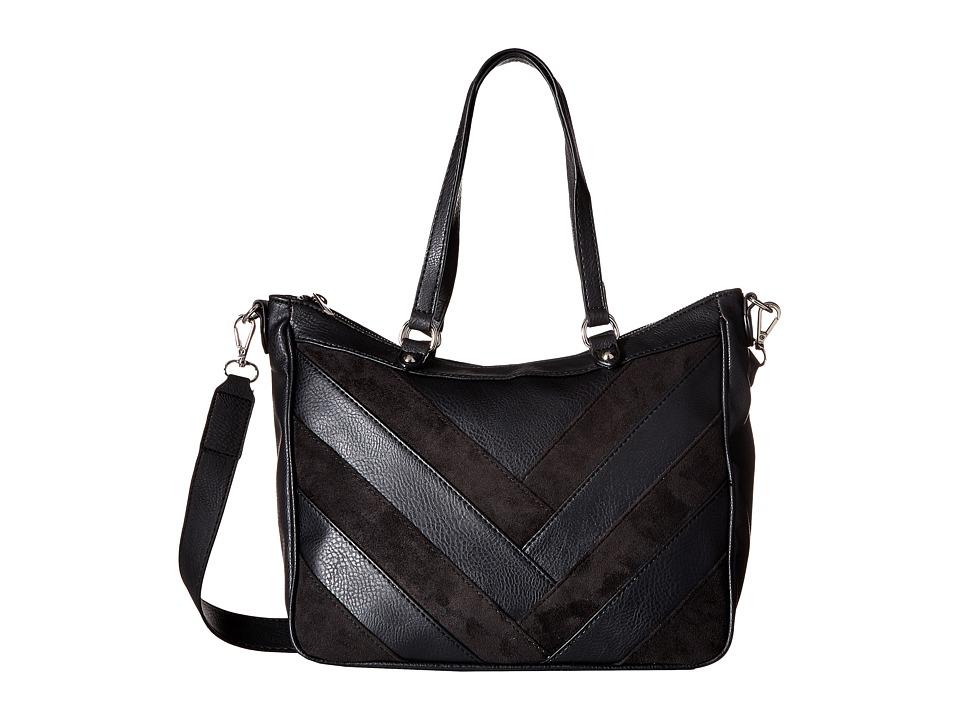 CARLOS by Carlos Santana - Maddie Medium Slouchy Satchel (Black) Satchel Handbags