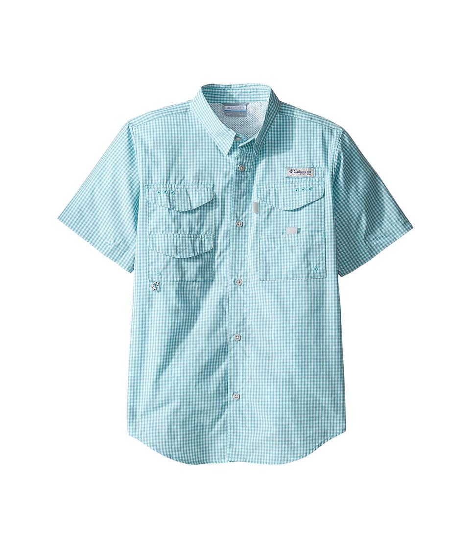 Columbia Kids - Super Boneheadtm S/S Shirt (Little Kids/Big Kids) (Moxie Gingham) Boy's Short Sleeve Button Up