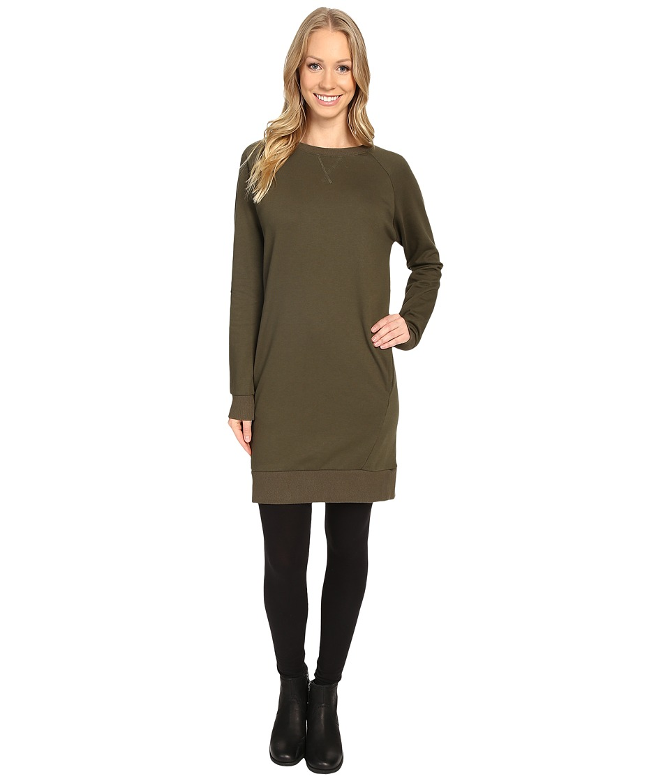 United By Blue - Walsh Raglan Fleece Dress (Olive) Women's Dress