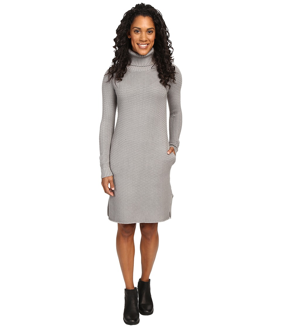 United By Blue - Luna Waffle Sweater Dress (Grey) Women's Dress