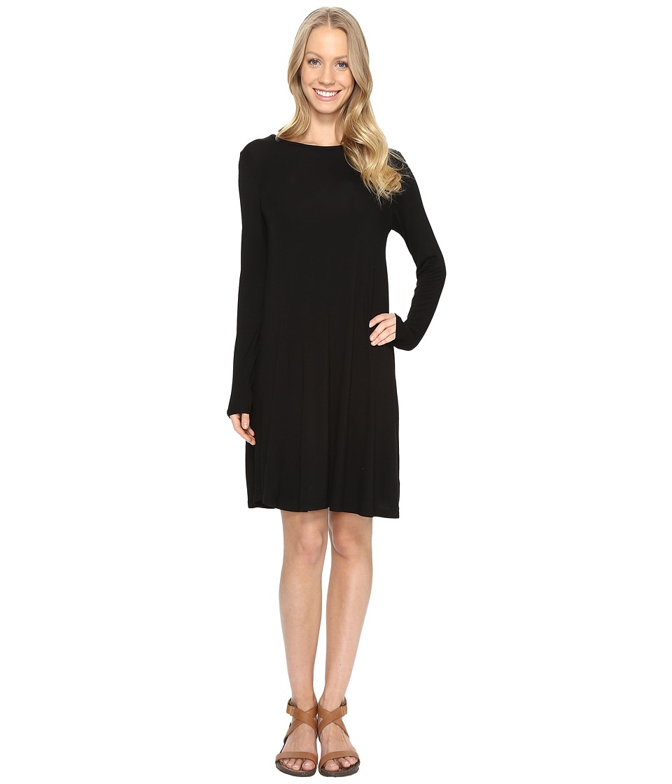 United By Blue - Talbot Long Sleeve Swing Dress (Black) Women's Dress