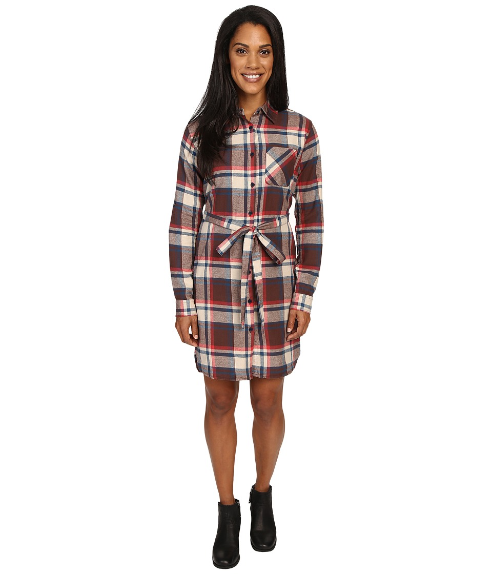 United By Blue - Murray Plaid Dress (Brown/Red) Women's Dress