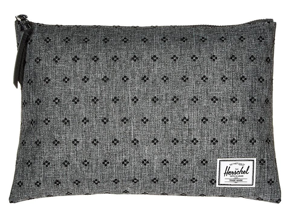 Herschel Supply Co. - Network Large (Raven Crosshatch/Black Dots) Wallet
