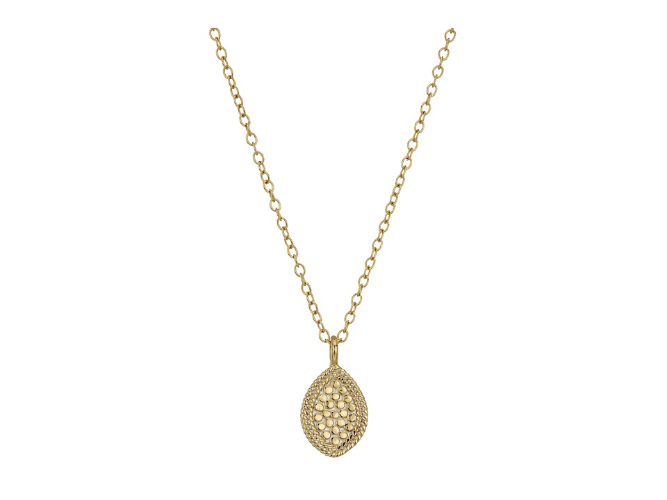 Anna Beck - Gold Almond Drop Necklace (Gold/Silver) Necklace