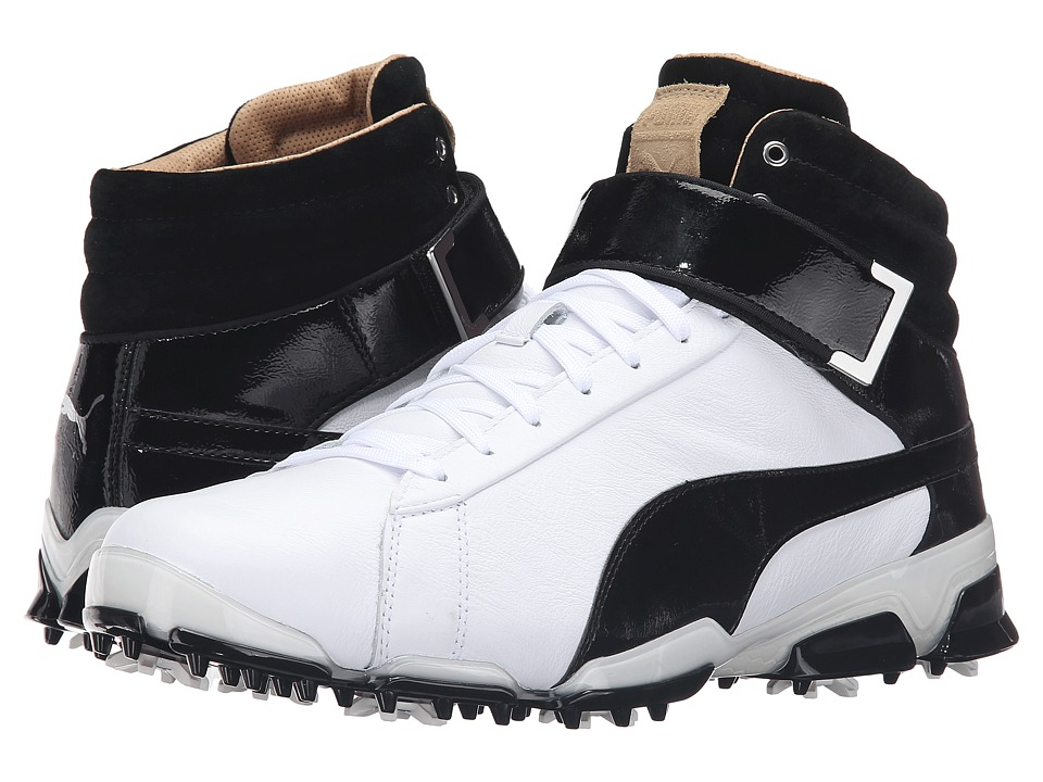 PUMA Golf - Titantour Ignite Hi-Top SE (White/Black) Men's Golf Shoes