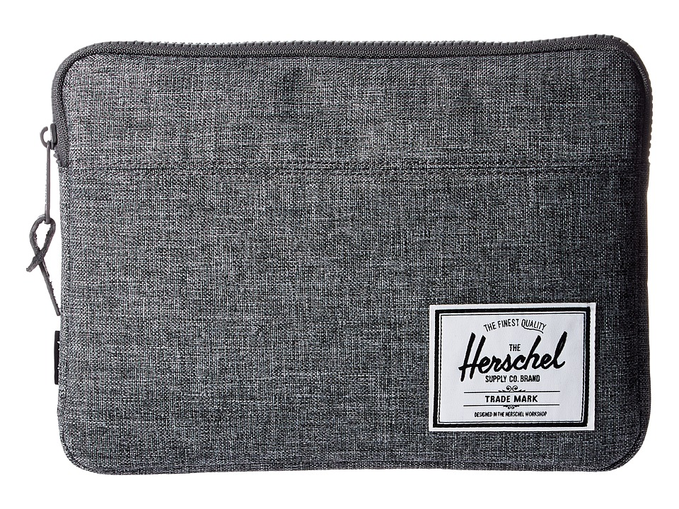 Herschel Supply Co. - Anchor Sleeve for iPad Air (Raven Crosshatch) Computer Bags