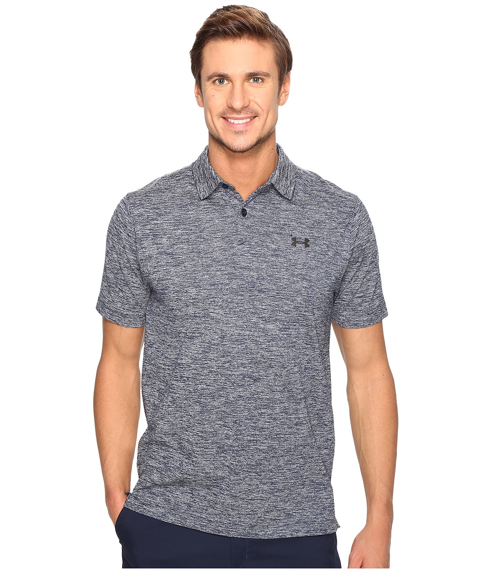 Under Armour Golf - Threadborne Tour Polo (Academy/Black) Men's Clothing