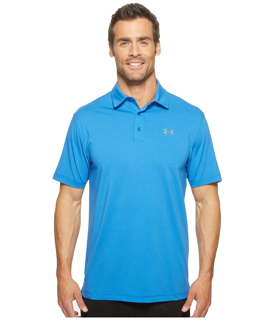 Under Armour Golf - Playoff Polo Vented (Blue Marker/Graphite) Men's Clothing