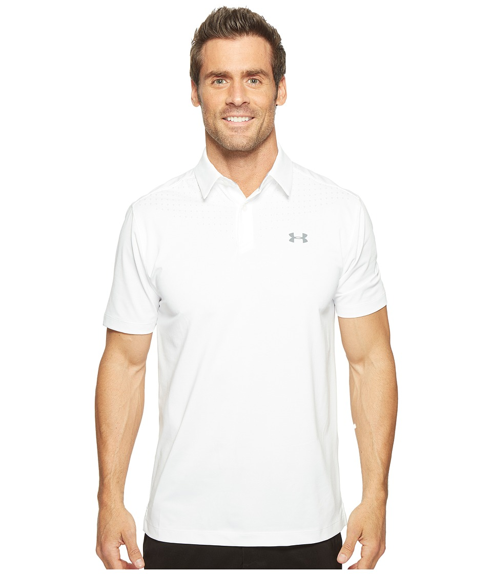 Under Armour Golf - UA CoolSwitch Ice Pick Polo (White/Black/Graphite) Men's Clothing