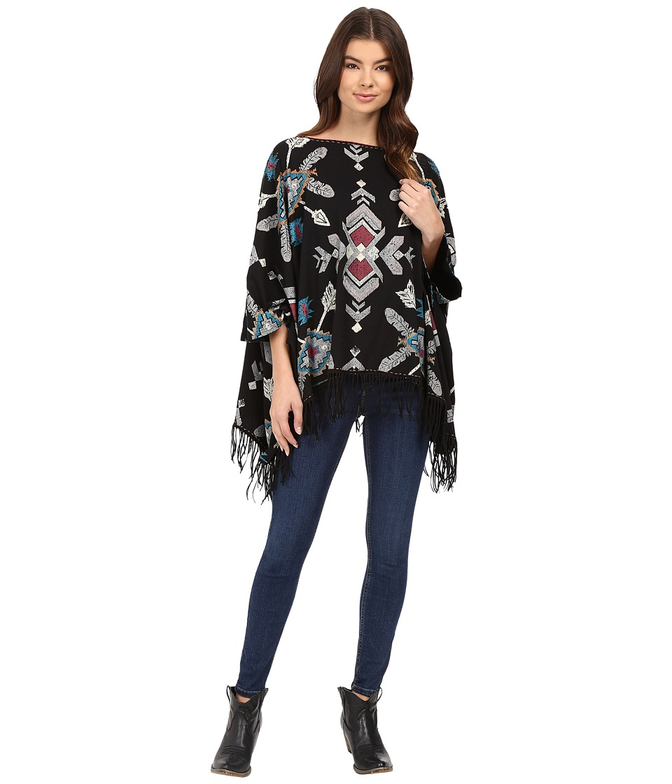 Double D Ranchwear - Free Easy Shawl Top (Black) Women's Clothing