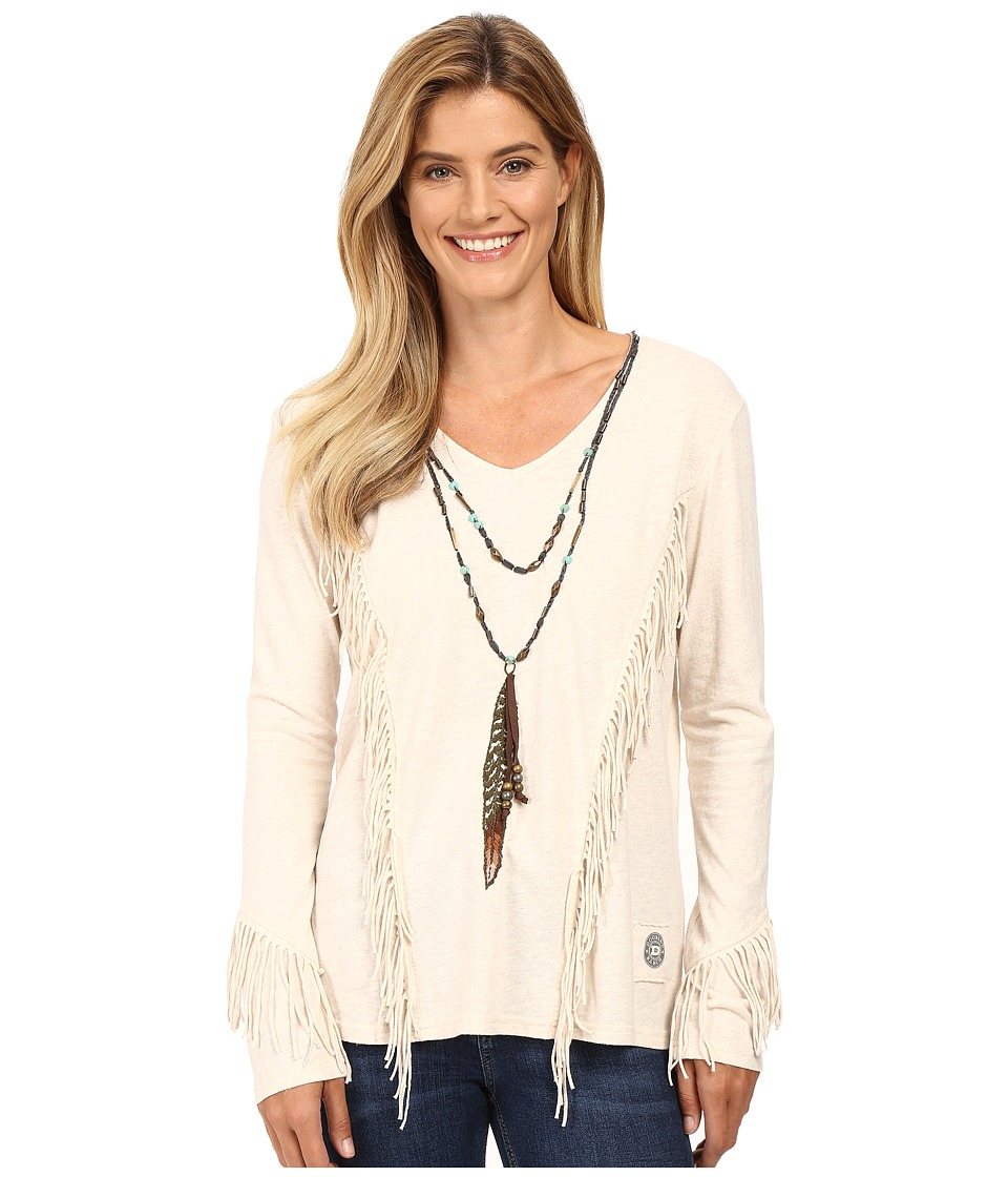 Double D Ranchwear - Lone Feather Top (String) Women's Clothing