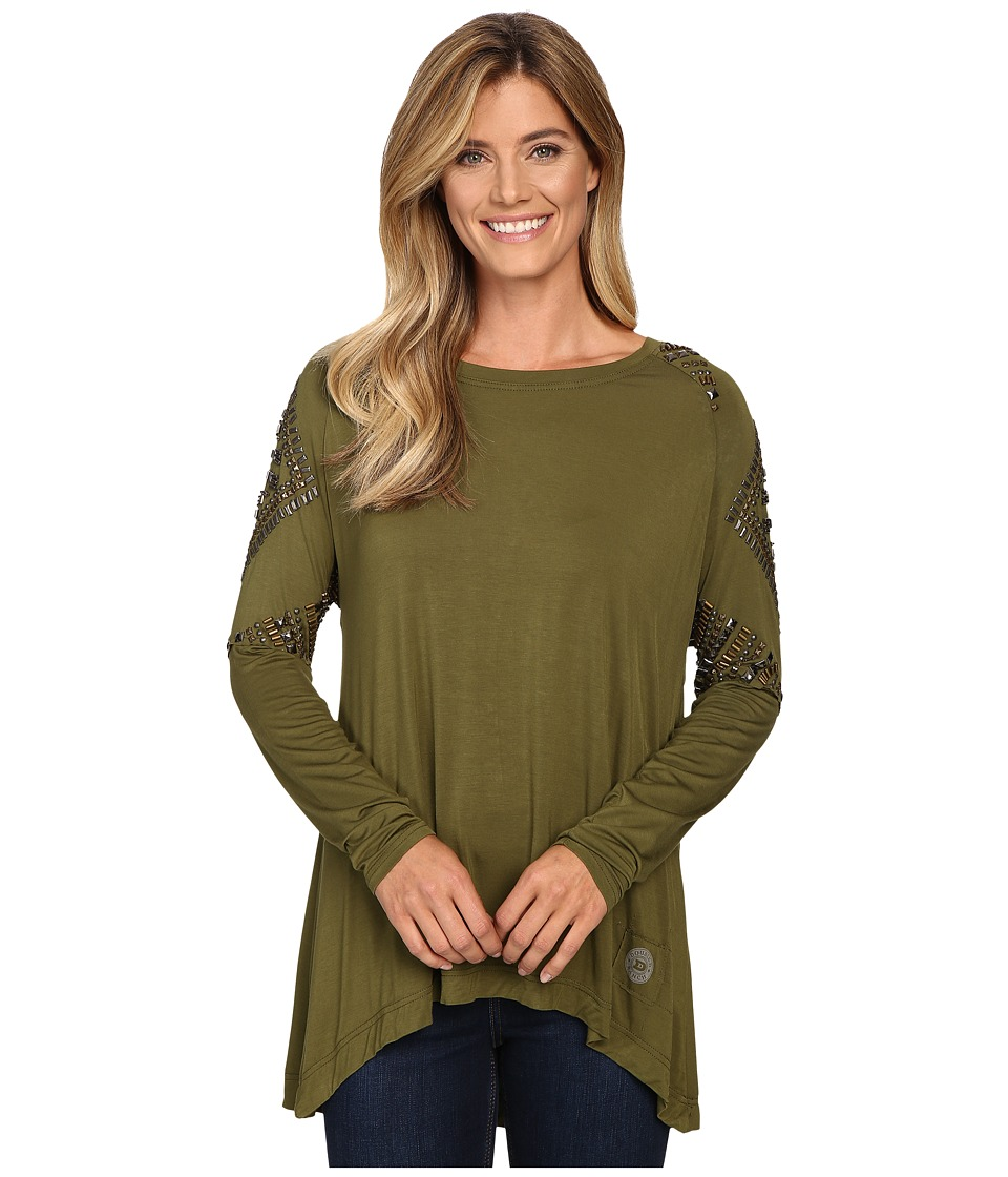 Double D Ranchwear - La Raspa Top (Olive) Women's Clothing