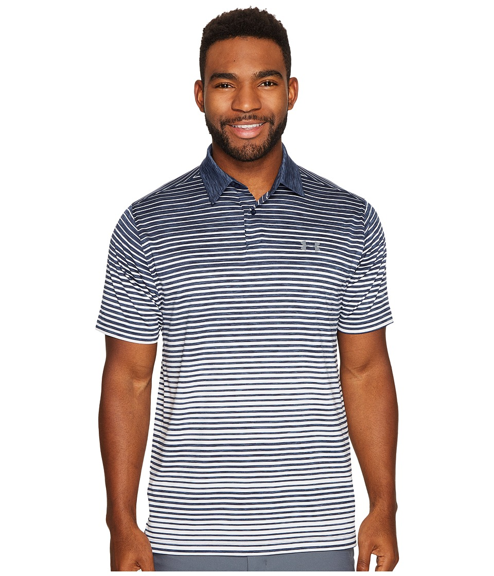 Under Armour Golf - Trajectory Stripe Polo (Academy/Academy/Graphite) Men's Clothing