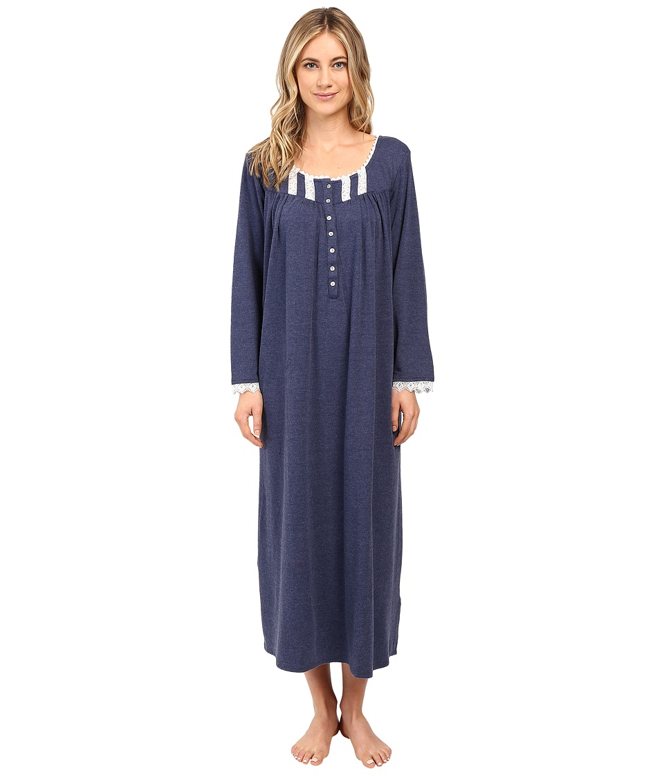 Eileen West - Ballet Nightgown Long Sleeve (Mid/Blue) Women's Pajama